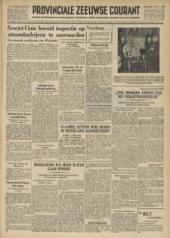 Provinciale Zeeuwse Courant 1949-11-14