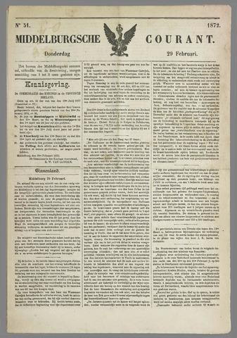 Middelburgsche Courant 1872-02-29