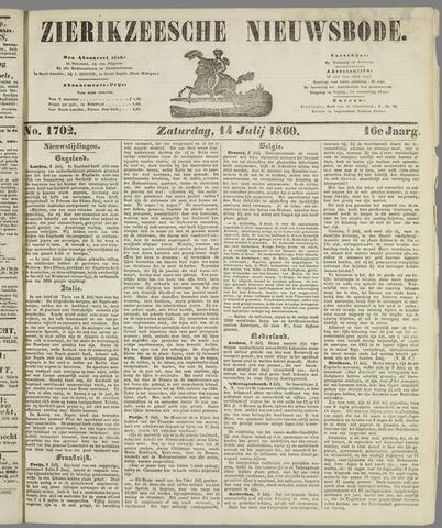 Zierikzeesche Nieuwsbode 1860-07-14