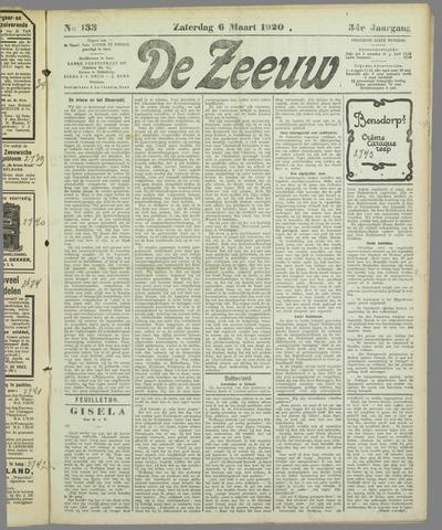 De Zeeuw. Christelijk-historisch nieuwsblad voor Zeeland 1920-03-06