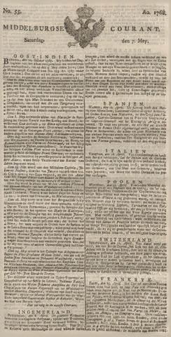 Middelburgsche Courant 1768-05-07