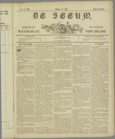De Zeeuw. Christelijk-historisch nieuwsblad voor Zeeland 1895-04-22