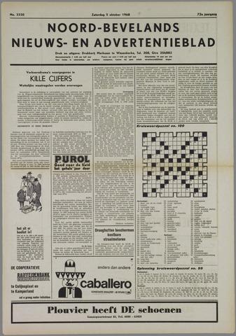 Noord-Bevelands Nieuws- en advertentieblad 1968-10-05