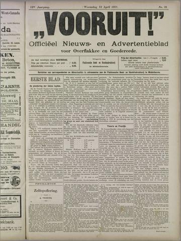 """""""Vooruit!""""Officieel Nieuws- en Advertentieblad voor Overflakkee en Goedereede 1911-04-12"""
