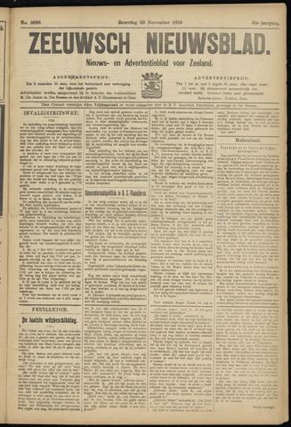 Ter Neuzensch Volksblad. Vrijzinnig nieuws- en advertentieblad voor Zeeuwsch- Vlaanderen / Zeeuwsch Nieuwsblad. Nieuws- en advertentieblad voor Zeeland 1919-11-29