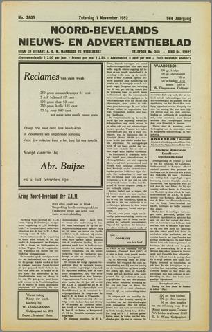 Noord-Bevelands Nieuws- en advertentieblad 1952-11-01