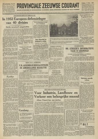 Provinciale Zeeuwse Courant 1951-02-02