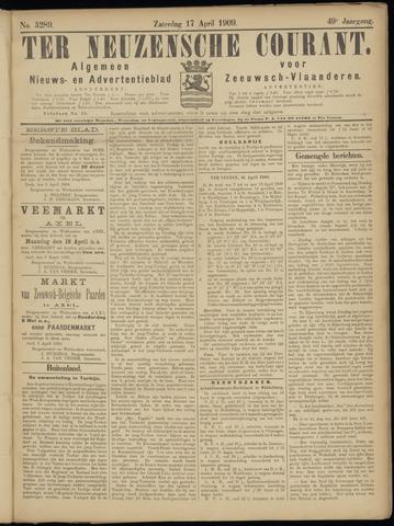 Ter Neuzensche Courant. Algemeen Nieuws- en Advertentieblad voor Zeeuwsch-Vlaanderen / Neuzensche Courant ... (idem) / (Algemeen) nieuws en advertentieblad voor Zeeuwsch-Vlaanderen 1909-04-17