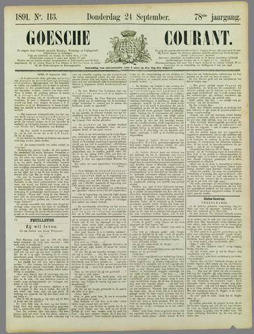 Goessche Courant 1891-09-24