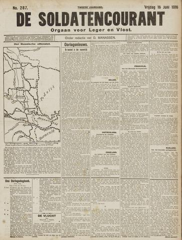 De Soldatencourant. Orgaan voor Leger en Vloot 1916-06-16