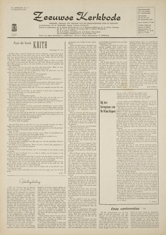 Zeeuwsche kerkbode, weekblad gewijd aan de belangen der gereformeerde kerken/ Zeeuwsch kerkblad 1969-08-21
