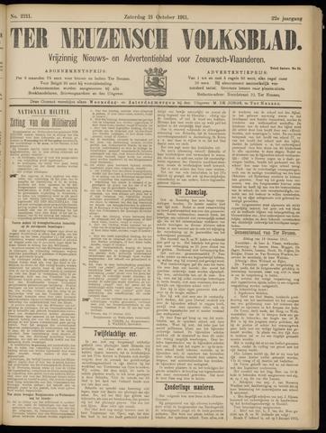 Ter Neuzensch Volksblad. Vrijzinnig nieuws- en advertentieblad voor Zeeuwsch- Vlaanderen / Zeeuwsch Nieuwsblad. Nieuws- en advertentieblad voor Zeeland 1911-10-21