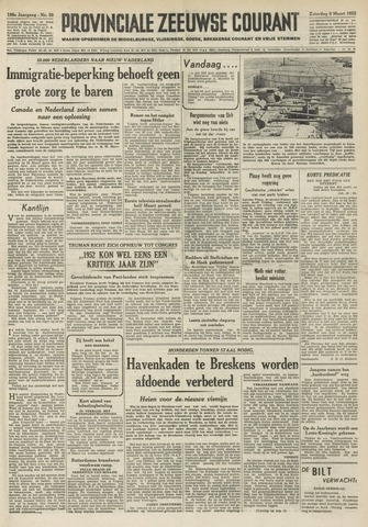 Provinciale Zeeuwse Courant 1952-03-08