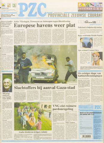 Provinciale Zeeuwse Courant 2003-09-02