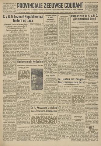 Provinciale Zeeuwse Courant 1949-01-17
