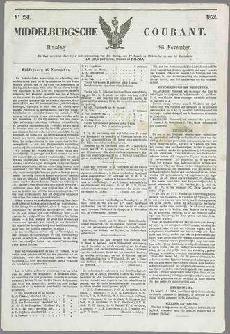 Middelburgsche Courant 1872-11-26