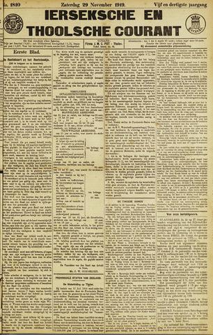 Ierseksche en Thoolsche Courant 1919-11-29