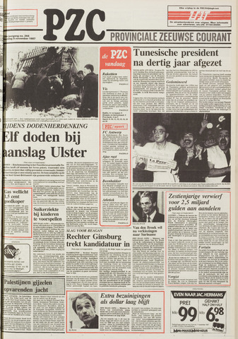 Provinciale Zeeuwse Courant 1987-11-09