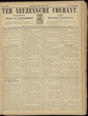 Ter Neuzensche Courant. Algemeen Nieuws- en Advertentieblad voor Zeeuwsch-Vlaanderen / Neuzensche Courant ... (idem) / (Algemeen) nieuws en advertentieblad voor Zeeuwsch-Vlaanderen 1897-04-22