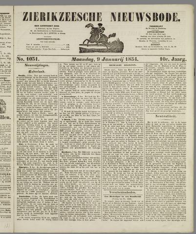 Zierikzeesche Nieuwsbode 1854-01-09