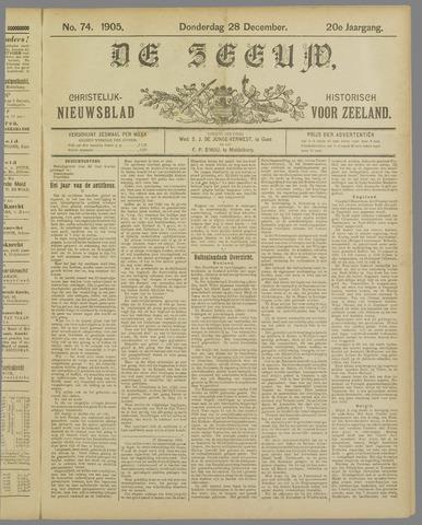 De Zeeuw. Christelijk-historisch nieuwsblad voor Zeeland 1905-12-28