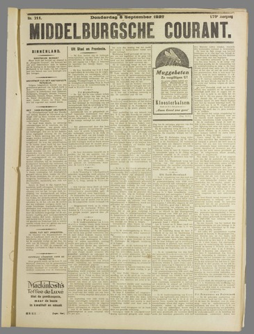 Middelburgsche Courant 1927-09-08