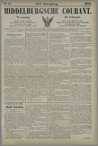 Middelburgsche Courant 1884-02-20