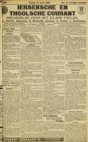 Ierseksche en Thoolsche Courant 1929-04-12