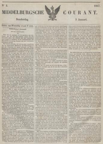Middelburgsche Courant 1867-01-03