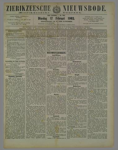 Zierikzeesche Nieuwsbode 1903-02-17