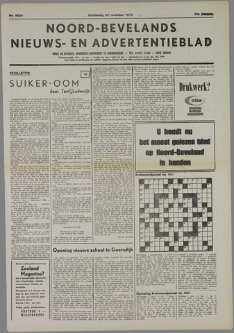 Noord-Bevelands Nieuws- en advertentieblad 1979-11-22