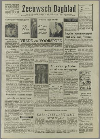 Zeeuwsch Dagblad 1958