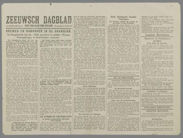 Zeeuwsch Dagblad 1945-04-11