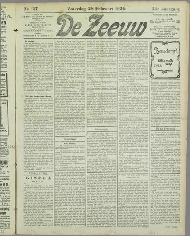 De Zeeuw. Christelijk-historisch nieuwsblad voor Zeeland 1920-02-28