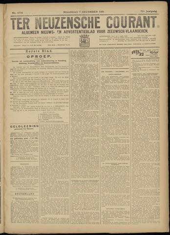 Ter Neuzensche Courant. Algemeen Nieuws- en Advertentieblad voor Zeeuwsch-Vlaanderen / Neuzensche Courant ... (idem) / (Algemeen) nieuws en advertentieblad voor Zeeuwsch-Vlaanderen 1931-12-07
