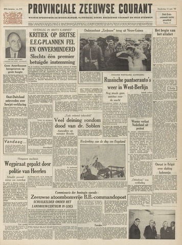 Provinciale Zeeuwse Courant 1962-09-13