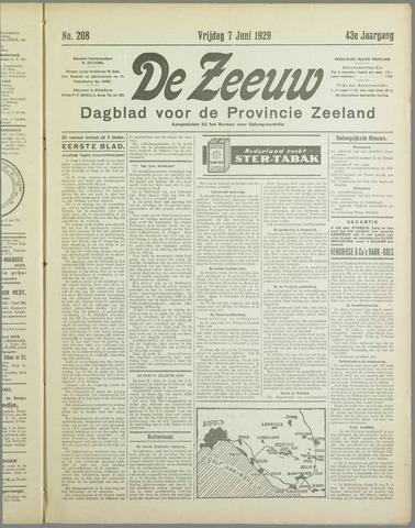 De Zeeuw. Christelijk-historisch nieuwsblad voor Zeeland 1929-06-07