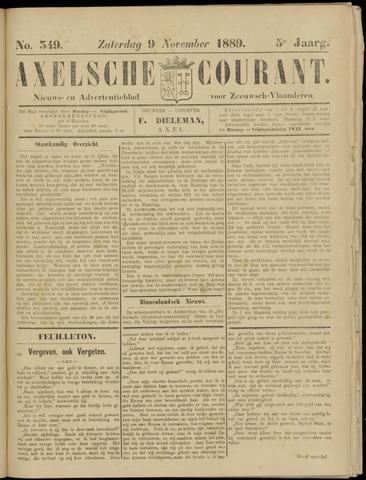 Axelsche Courant 1889-11-09