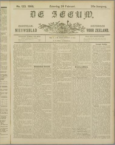 De Zeeuw. Christelijk-historisch nieuwsblad voor Zeeland 1906-02-24