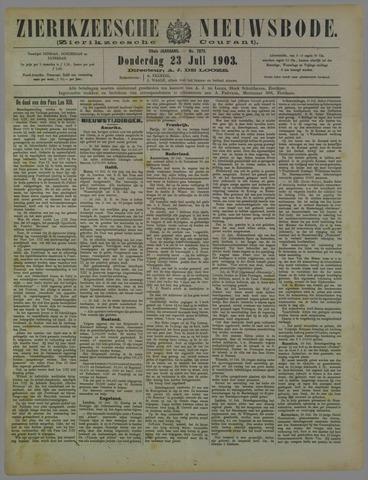 Zierikzeesche Nieuwsbode 1903-07-23