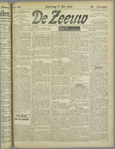 De Zeeuw. Christelijk-historisch nieuwsblad voor Zeeland 1921-05-07