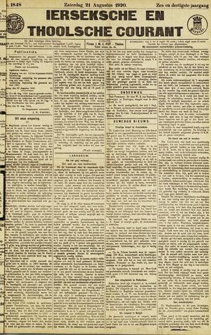 Ierseksche en Thoolsche Courant 1920-08-21