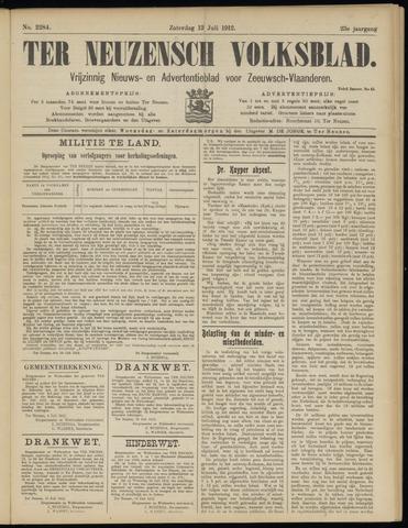 Ter Neuzensch Volksblad. Vrijzinnig nieuws- en advertentieblad voor Zeeuwsch- Vlaanderen / Zeeuwsch Nieuwsblad. Nieuws- en advertentieblad voor Zeeland 1912-07-13