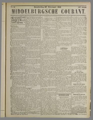 Middelburgsche Courant 1919-02-27