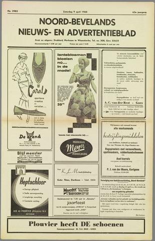 Noord-Bevelands Nieuws- en advertentieblad 1960-04-09