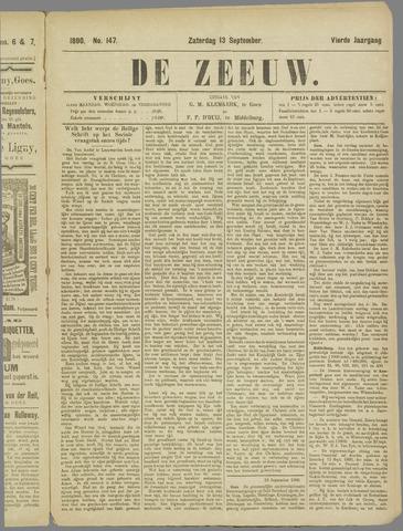 De Zeeuw. Christelijk-historisch nieuwsblad voor Zeeland 1890-09-13