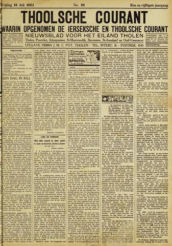 Ierseksche en Thoolsche Courant 1934-07-13