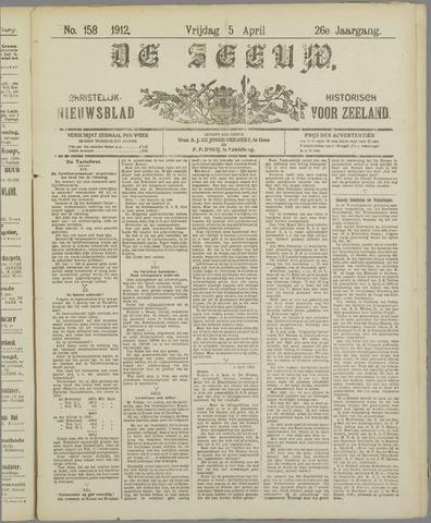 De Zeeuw. Christelijk-historisch nieuwsblad voor Zeeland 1912-04-05
