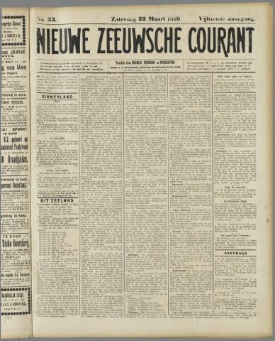Nieuwe Zeeuwsche Courant 1919-03-22