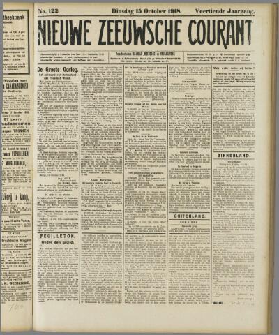 Nieuwe Zeeuwsche Courant 1918-10-15